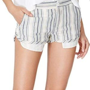 striped button up shorts